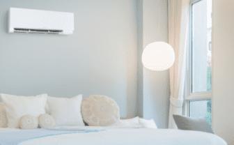 ductless mini split in bedroom